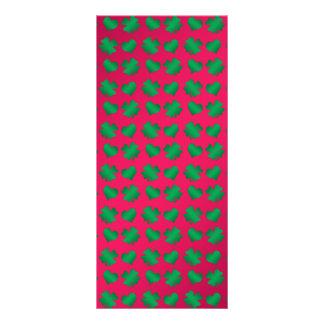 Tréboles y corazones verdes rosados lona
