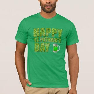 Tréboles y el día de St Patrick feliz de la Playera