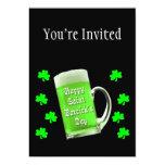 Tréboles y el día de St Patrick verde de la Invitación 12,7 X 17,8 Cm