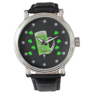 Tréboles y el día de St Patrick verde de la Relojes De Pulsera