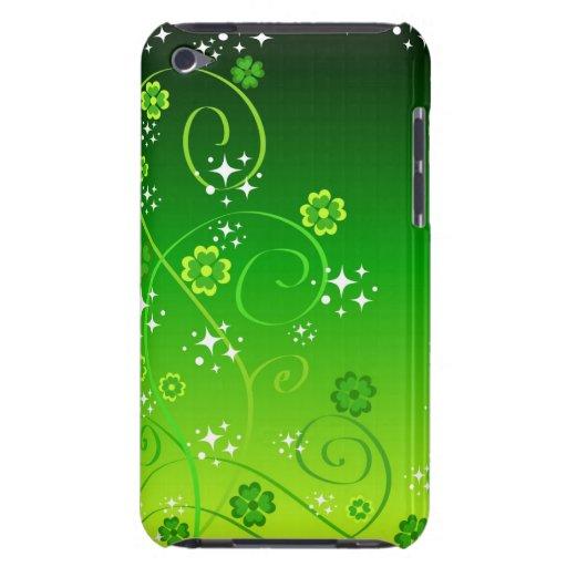 Tréboles y estrellas verdes barely there iPod protectores