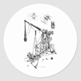 trebuchet classic round sticker