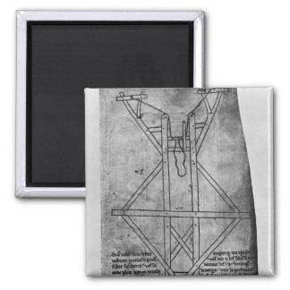 Trebuchet, machine to throw arrows magnet
