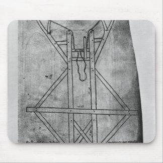 Trebuchet, machine to throw arrows mouse pad