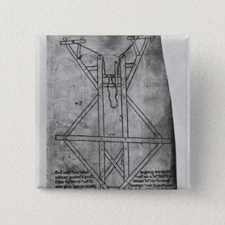 Trebuchet, machine to throw arrows pinback button