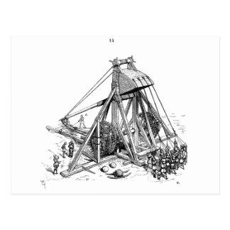 trebuchet postcard