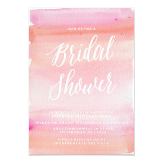 TREDNY WATERCOLOR BRIDAL SHOWER invitation