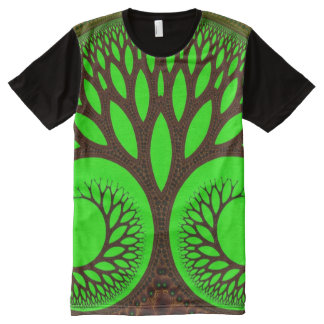 Tree 2 Abstract Fine Fractal All-Over Print T-shirt