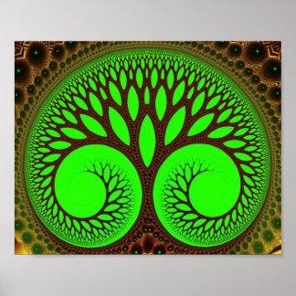 Tree 2  Fine Green Fractal Art Poster