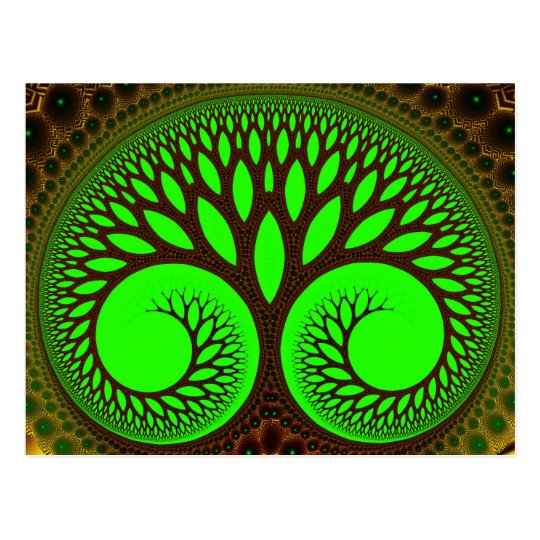 Tree 2  Fractal Art Postcard