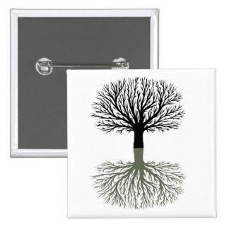 Tree 2 Inch Square Button