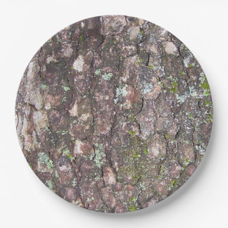 Tree 2 - Moss on Bark Paper Plate