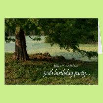 Tree 50th Birthday Party Invitation