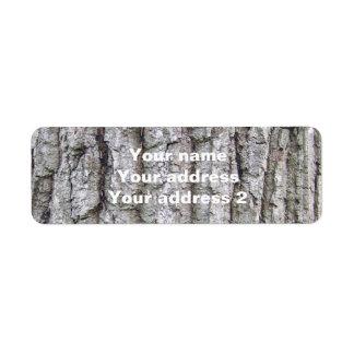 Tree 5 - Oak Tree Bark Label