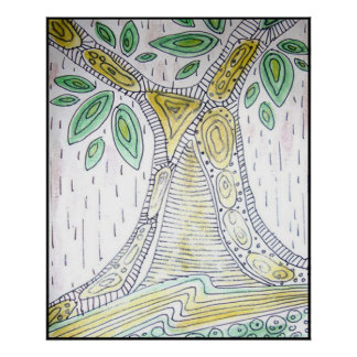 Tree Abstract Artwork Poster