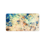 Tree abstract orange and blue background custom address labels