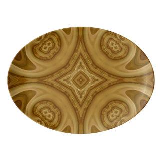 Tree Abstract Pattern Porcelain Serving Platter