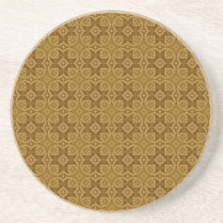 Tree Abstract Pattern Sandstone Coaster