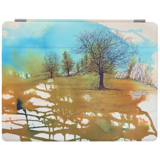 Tree Abstract Pen Ink Watercolor Art iPad Smart Cover