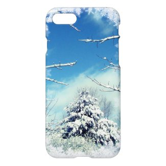 Tree after Winter Snow Storm Nature iPhone 7 Case