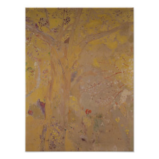 Tree Against a Yellow Background, 1901 Poster