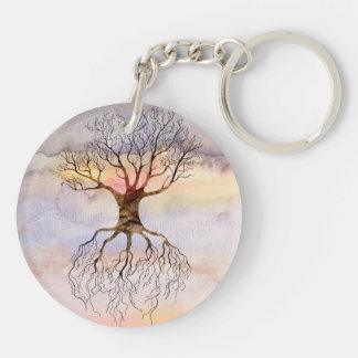 Tree Against The Sky Keychain