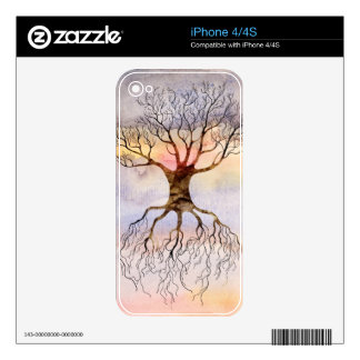 Tree Against The Sky iPhone 4S Decal