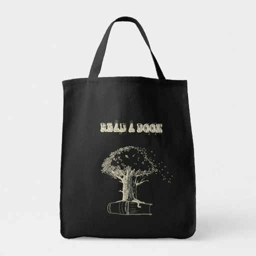 Tree and a book canvas bag