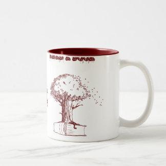 Tree and a book coffee mug
