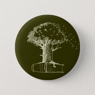 Tree and a book pinback button