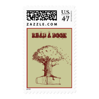 Tree and a book postage