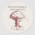 Tree and a book sticker