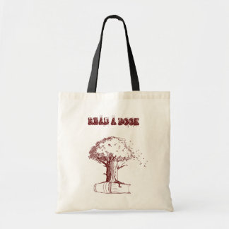 Tree and a book tote bag
