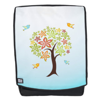 Tree and birds backpack