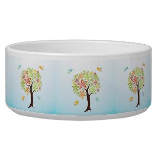 Tree and birds bowl