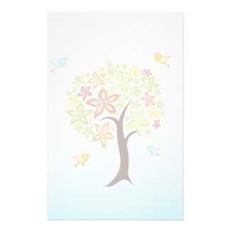 Tree and birds stationery