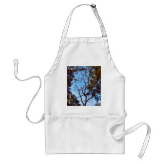 Tree and blue sky adult apron