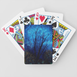 Tree and Blue Sky, Evening. Bicycle Playing Cards
