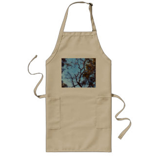 Tree and blue sky long apron