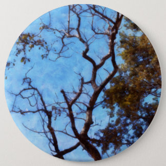 Tree and blue sky pinback button