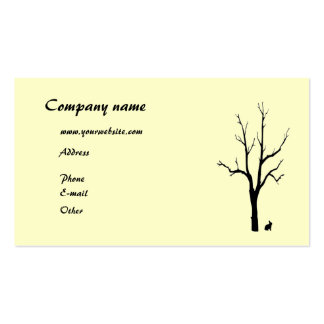 Tree and Bunny Silhouette Business Card Template