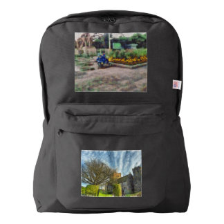 Tree and church backpack