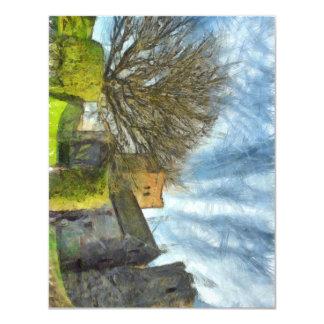 Tree and church card