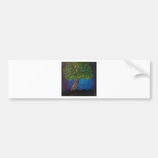 tree and earth bumper sticker