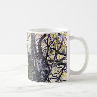 tree and golden sky coffee mug