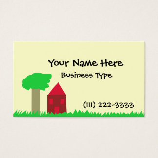 Tree and House Business Card