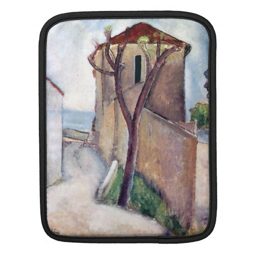 Tree and House by Amedeo Modigliani Sleeves For iPads