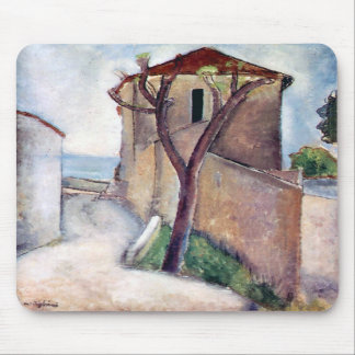 Tree and House by Amedeo Modigliani Mousepad
