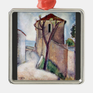 Tree and House by Amedeo Modigliani Christmas Ornament