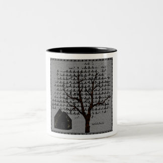 Tree and House Two-Tone Coffee Mug